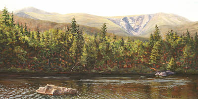Huntington Painting - Huntington Ravine, Mt. Washington, Nh by Elaine Farmer