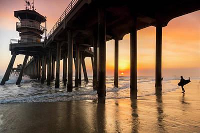 Huntington Beach California Photograph - Huntington Surfer by Sean Davey