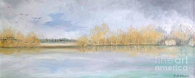 Painting - Huntsmans Lake Lechlade by Yvonne Ayoub