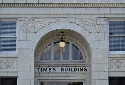 Photograph - Huntsville Times Daily - Times Building by rd Erickson