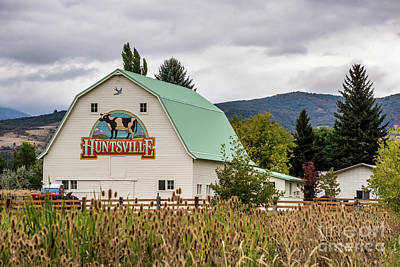 Photograph - Huntsville Utah Barn - Wasatch Mountains by Gary Whitton