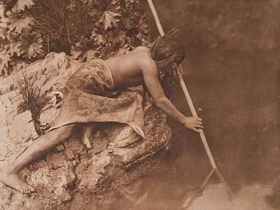 Hupa Fisherman C.1923 , Native American By Edward Sheriff Curtis, 1868 - 1952 Art Print