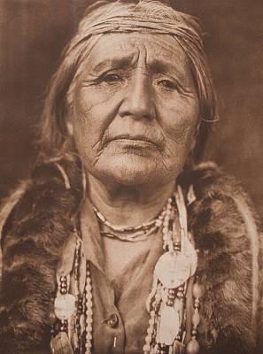 Hupa Woman C.1923 , Native American By Edward Sheriff Curtis, 1868 - 1952 Art Print
