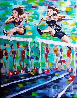 Hurdle Painting - Hurdles by Lisa Owen-Lynch