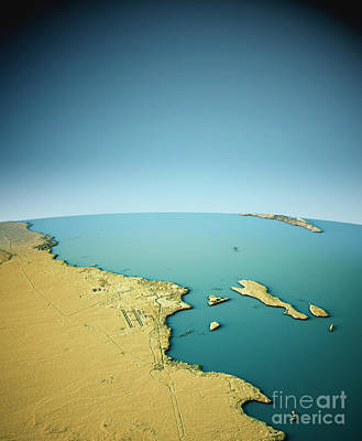 Travel Digital Art - Hurghada 3d View South-north Natural Color by Frank Ramspott