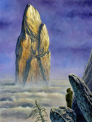Painting - Hurin Looks Upon A Monolith Of The Echoriath by Kip Rasmussen
