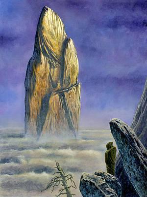 Silmarillion Painting - Hurin Looks Upon A Monolith Of The Echoriath by Kip Rasmussen