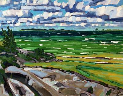 Painting - Huron Cumulus Streets by Phil Chadwick