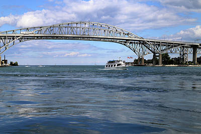 Photograph - Huron Lady II And Blue Water Bridge by Mary Bedy