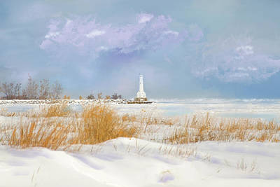 Photograph - Huron Lighthouse by Mary Timman