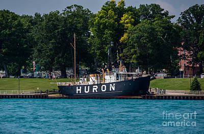 Photograph - Huron Lighthouse Ship by Grace Grogan