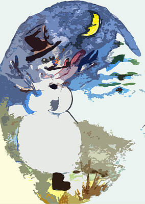 Snowscape Painting - Hurray The Frosty by Mindy Newman