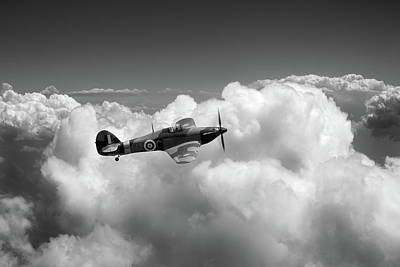 Photograph - Hurricane Above Clouds Bw Version by Gary Eason