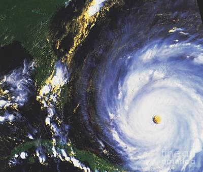 Noaa Photograph - Hurricane Floyd by NASA / Science Source