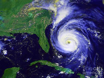 Hurricane Fran Art Print by Stocktrek Images