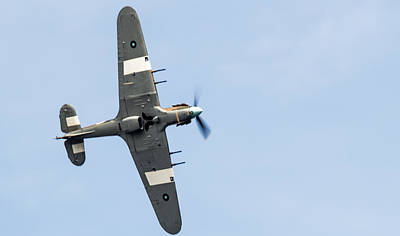 Art Print featuring the photograph Hurricane From Below Sunderland Air Show 2014 by Scott Lyons