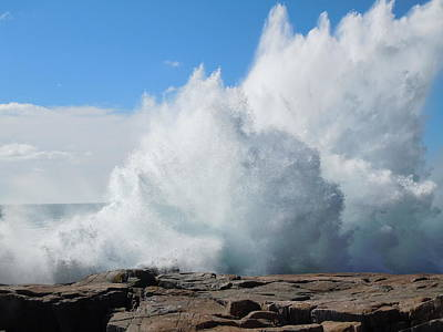 Hurricane Igor At Schoodic Point Maine Art Print