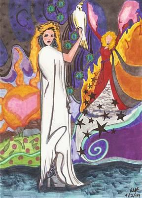 Stevie Nicks Drawing - Hurricane by Michelle Kinzler