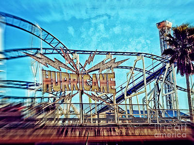 Photograph - Hurricane Roller Coaster Santa Cruz by Jim And Emily Bush