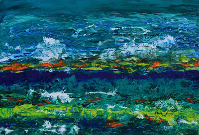 Contemporary Seascape Art Painting - Hurricane Season Begins by Donna Blackhall