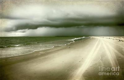 Photograph - Hurricane Storm Ocracoke Island Outer Banks by Dan Carmichael