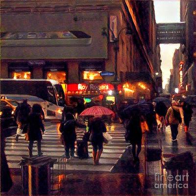 Photograph - Hurrying Home - Before The Rain by Miriam Danar