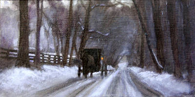Hurrying Home Original by David Zimmerman