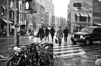 Photograph - Hurrying On 7th Avenue by John Rizzuto