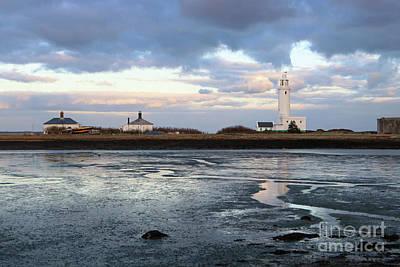 Photograph - Hurst Castle Lighthouse Hampshire England Uk by Julia Gavin
