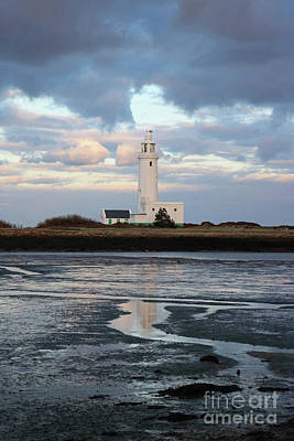 Photograph - Hurst Castle Lighthouse New Milton Hampshire Uk by Julia Gavin