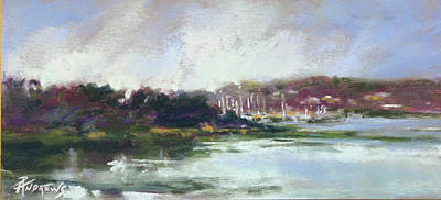 Painting - Hurst Harbor Glimpse by Rae Andrews