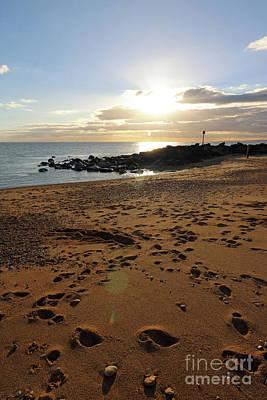 Photograph - Hurst Spit Solent Sunset Hampshire Uk by Julia Gavin