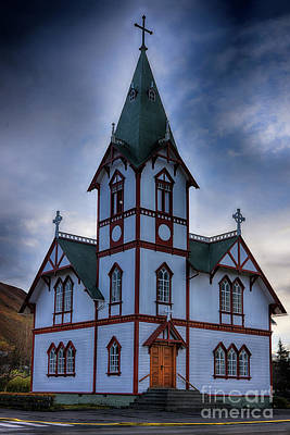 Photograph - Husavik Church Iceland by Chris Thaxter