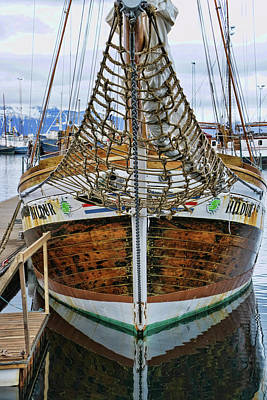 Photograph - Husavik Harbor # 2  by Allen Beatty