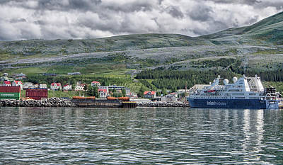 Photograph - Husavik Harbor by C H Apperson