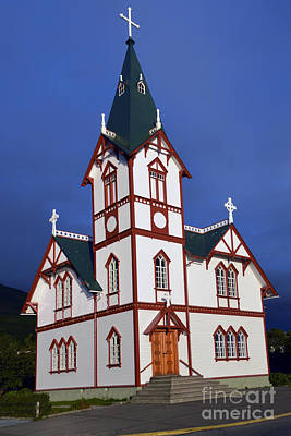 Photograph - Husavik Lutheran Church by Catherine Sherman