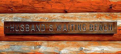 Husband's Waiting Bench - Denali National Park Art Print