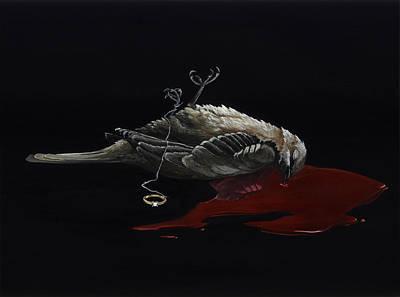 Mockingbird Painting - Hush by K Llamas