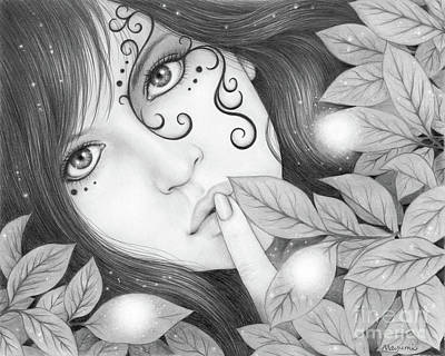 Drawing - Hush by Mayumi Ogihara