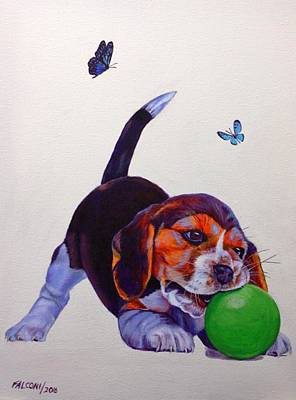 Hush Puppy Playing Original by Susana Falconi