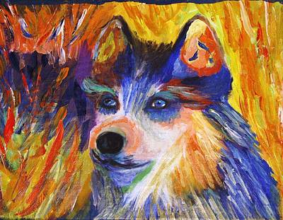 Painting - Husky  by April Harker