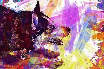 Siberian Husky Digital Art - Husky Dog Siberian Husky Siberian  by PixBreak Art