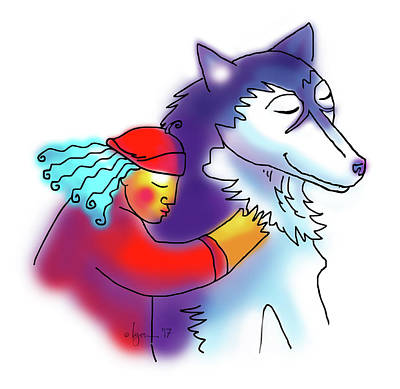 Drawing - Husky Love by Angela Treat Lyon