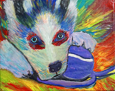 Painting - Husky Pup by April Harker
