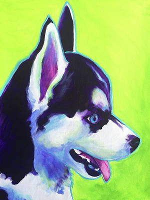Painting - Husky - Puppy by Alicia VanNoy Call