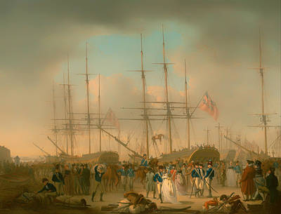 Hussars Embarking At Deptford Print by Mountain Dreams