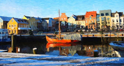 Painting - Husum, Germany by Chris Armytage