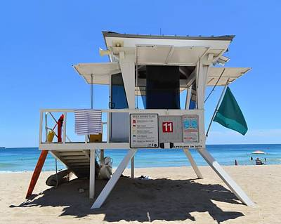 Photograph - Hut 11 - Fort Lauderdale, Florida by KJ Swan