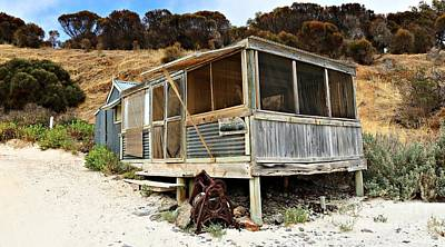 Photograph - Hut At Western River Cove by Stephen Mitchell