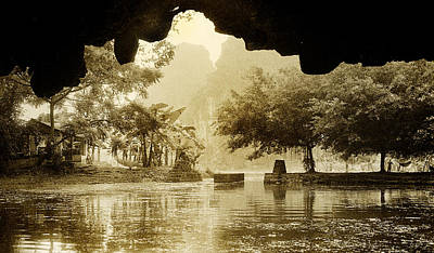 Photograph - Hut In Tam Coc From A Cave River by Weston Westmoreland